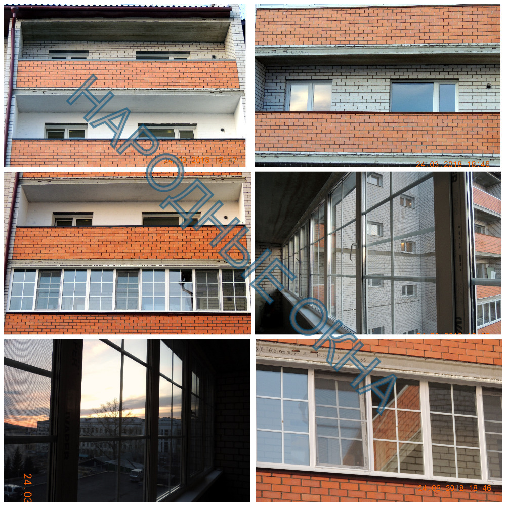 Теплое балконное остекление с белыми шпроссами в стеклопакете по адресу: г. Чита, ул. Угданская д.7